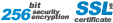 SSL Certificate 256 bit Security Encryption